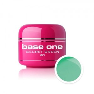 61 Silcare Base One COLOR Żel UV kolor 5g - Secret Green