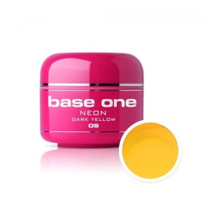 09 Silcare Base One NEON Żel UV kolor 5g - Dark Yellow