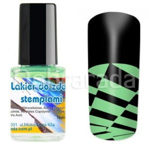 I-nails Lakier do zdobnictwa STEMPLOWANIA stempli 12ml - Metallic Green