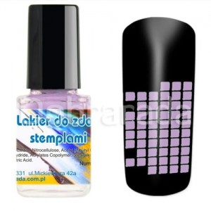 I-nails Lakier do zdobnictwa STEMPLOWANIA stempli 12ml - Flower Purple