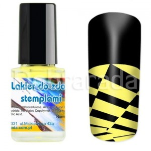I-nails Lakier do zdobnictwa STEMPLOWANIA stempli 12ml - Sun Yellow