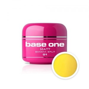 01 Silcare Base One MATT Żel UV kolor 5g - Banana Split
