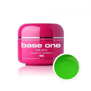 20 Silcare Base One NEON Żel UV kolor 5g - Medium Green