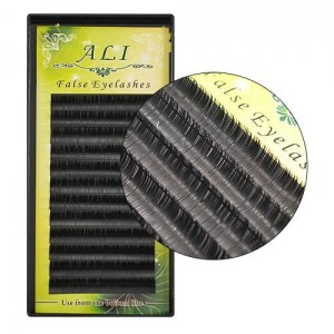 Ali False Eyelashes Kasetka Rzęsy jedwabne C 0.20mm 9mm