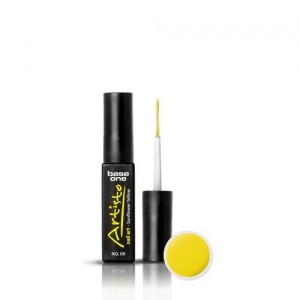 09 Silcare Base One Artisto Nail Art 10g - Sunflower Yellow