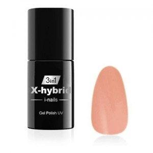 07 i-nails Żel hybrydowy NO WIPE X-hybrid 6ml Rose Nude