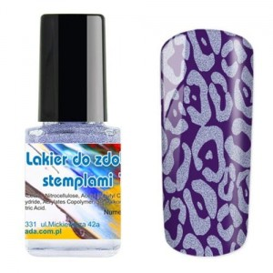 I-nails Lakier do zdobnictwa STEMPLOWANIA stempli 12ml - Glitter Purple