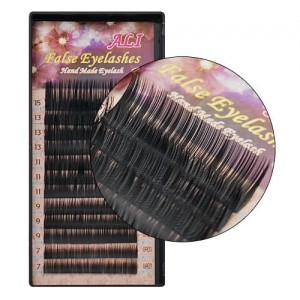 Ali False Eyelashes Kasetka Rzęsy jedwabne J 0.10mm 7-15mm