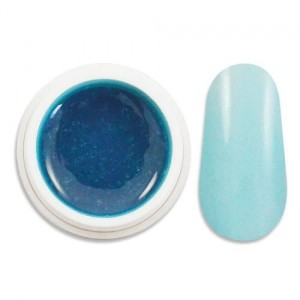 Żel uv i-nails kolor 5ml zelk100 transparentny blue  (blue clear)