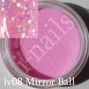 Akryl i-nails LAS VEGAS 5g kolorowy z brokatem lv08 Mirror Ball