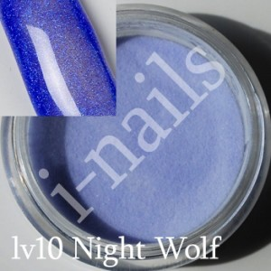 Akryl i-nails LAS VEGAS 5g kolorowy z brokatem lv10 Night Wolf