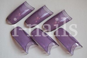 Tipsy French fioletowe clear Violet Trans - 100szt.