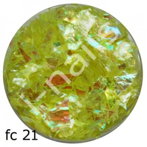Folia cięta mermaid flakes fc21 Yellow NEON