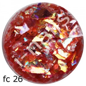 Folia cięta mermaid flakes fc26 Red AB