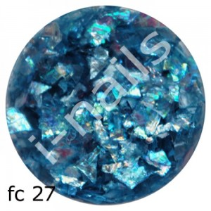 Folia cięta mermaid flakes fc27 Blue AB