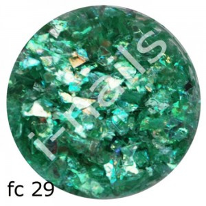 Folia cięta mermaid flakes fc29 Green AB
