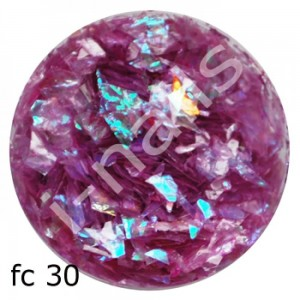 Folia cięta mermaid flakes fc30 Purpura AB