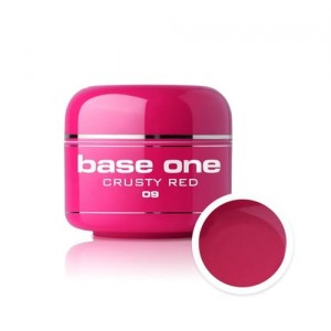 09 Silcare Base One COLOR Żel UV kolor 5g - Crusty Red