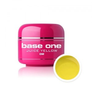 02 Silcare Base One COLOR Żel UV kolor 5g - Juice Yellow