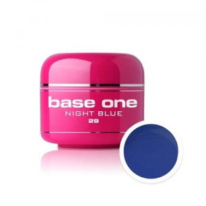 29 Silcare Base One COLOR Żel UV kolor 5g - Night Blue