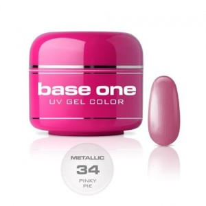 34 Silcare Base One METALLIC Żel UV kolor 5g - Pinky Pie