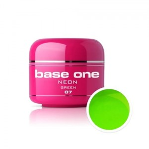 07 Silcare Base One NEON Żel UV kolor 5g - Green