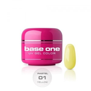 01 Silcare Base One PASTEL Żel UV kolor 5g - Yellow