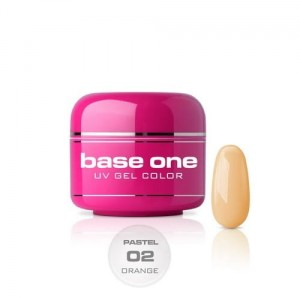 02 Silcare Base One PASTEL Żel UV kolor 5g - Orange