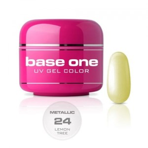 24 Silcare Base One METALLIC Żel UV kolor 5g - Lemon Tree