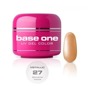 27 Silcare Base One METALLIC Żel UV kolor 5g - Bahama Mama
