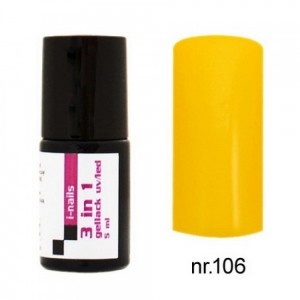 106 i-nails Żel Lakier HYBRYDOWY 3in1 (3w1 one step) UV/LED 5ml