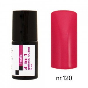 120 i-nails Żel Lakier HYBRYDOWY 3in1 (3w1 one step) UV/LED 5ml