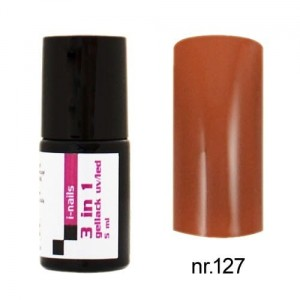 127 i-nails Żel Lakier HYBRYDOWY 3in1 (3w1 one step) UV/LED 5ml